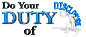 Duty of Disclosure Featured